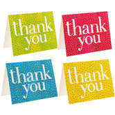 Bright Confetti Thank You Cards
