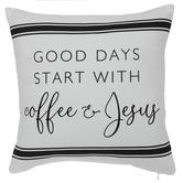 Coffee & Jesus Pillow