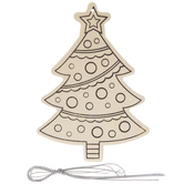 Christmas Tree Wood Ornament Craft Kit