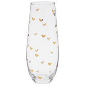 Gold Hearts Stemless Glass