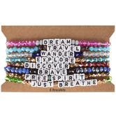 Dream Words Beaded Bracelets