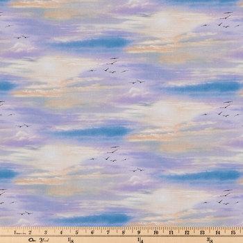 Sky Cotton Calico Fabric