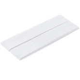 White Wide Single Fold Bias Tape