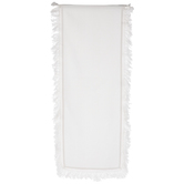 White Fabric Fringe Table Runner