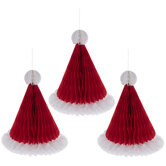 Honeycomb Santa Hats