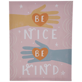 Be Nice Be Kind Canvas Wall Decor