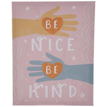 Be Nice Be Kind Canvas Wall Decor