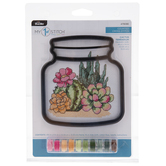 Cactus Terrarium Mini Counted Cross Stitch Kit