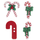 Candy Cane Toggle & Shank Buttons