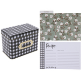 Buffalo Check Metal Recipe Box