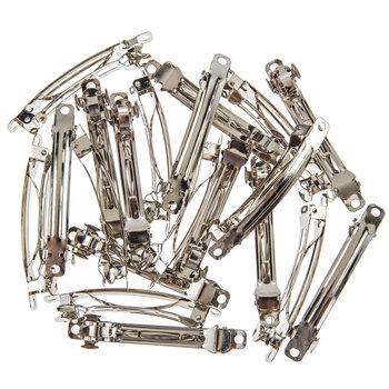 Silver Barrettes - 60mm