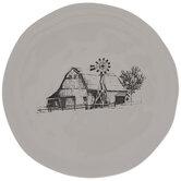 White & Black Barn Plate