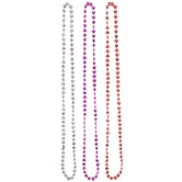 Red & Pink Metallic Heart Bead Necklaces