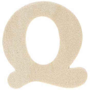 """Wood Letters Q - 1 3/4"""""""