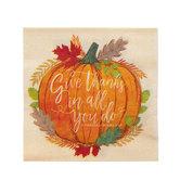 1 Thessalonians 5:18 Pumpkin Napkins