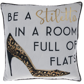 Be A Stiletto Leopard Pillow