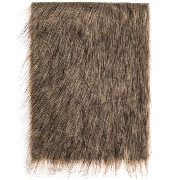 2-Tone Light Brown Long Pile Faux Fur