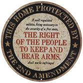 2nd Amendment Metal Sign