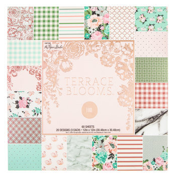 "Terrace Blooms Foil Paper Pack - 12"" x 12"""