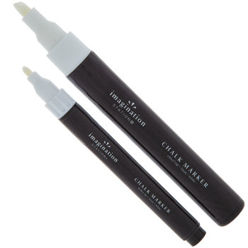 White Chalk Markers - 2 Piece Set