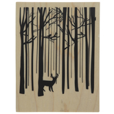 Snow Forest Rubber Stamp