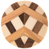 Inlay Round Wood Knob