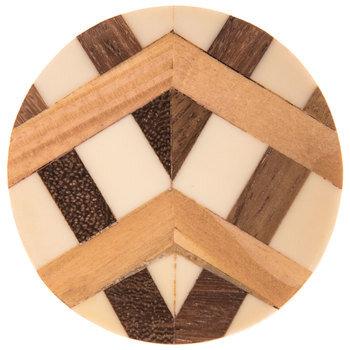 Inlay Round Wood Knob