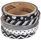 Black & White Skinny Washi Tape