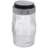 Textured Barrel Glass Jar