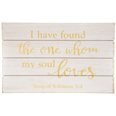 Song Of Solomon 3:4 Wood Wall Decor