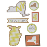 New York Icons 3D Stickers