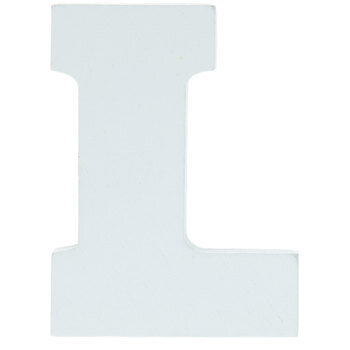 "White Wood Letters L - 2"""