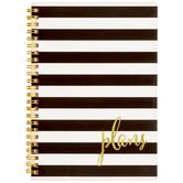Striped Plans Spiral Notebook