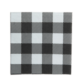 Black & White Buffalo Check Napkins - Small