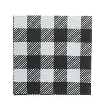 Black & White Buffalo Check Napkins - Small