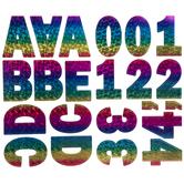 Ice Cracked Rainbow Foil Alphabet Stickers