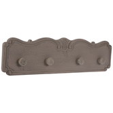Carved Scroll Wood Wall Decor With Knobs