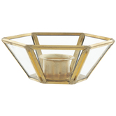 Gold Hexagon Metal Candle Holder