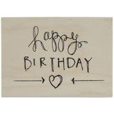 Happy Birthday Heart Rubber Stamp