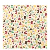 "Multi-Colored Dog Paws Scrapbook Paper - 12"" x 12"""