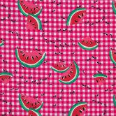 Watermelon & Ants Cotton Calico Fabric