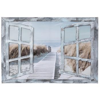 Beach Window 3D Canvas Wall Decor