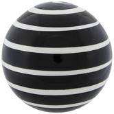 Black & White Striped Decorative Sphere