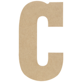 "Wood Letter C - 13"""
