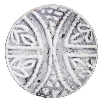 Whitewash Leaf Metal Knob
