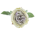 Gray, Green & Purple Single Rose Stem