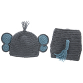Baby Elephant Crochet Hat & Diaper Cover