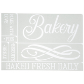 Bakery Adhesive Stencils