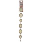 Opal & Rhinestones Connector Bracelet