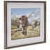 Grazing Longhorns Framed Wall Decor